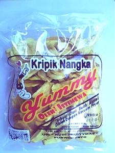 kripik jackfruit cheap and tasty cuisine sweet